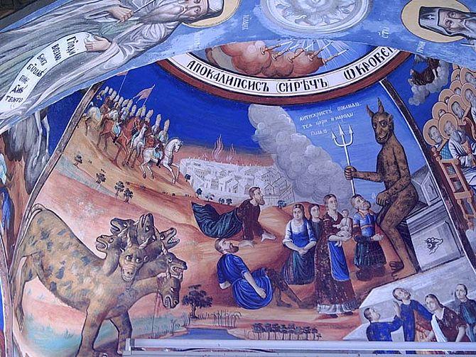 English: Fresco illustrating the Aocalypse (Bo...